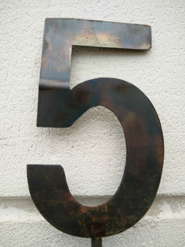 Garten Hausnummer Metall Eisen,Gartennummer H150cm Gartendeko Naturfarbe