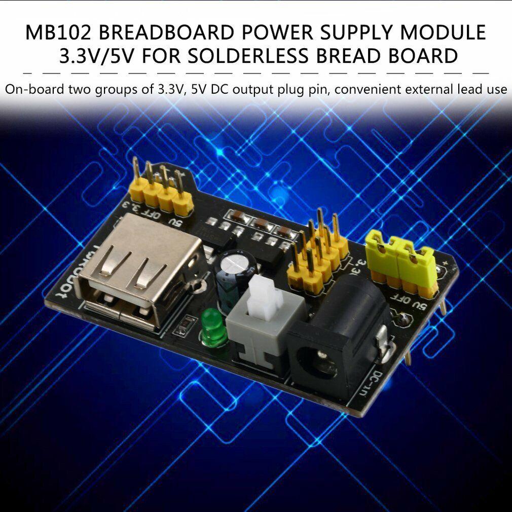 3X MB102 Breadboard Power Supply Module 3.3V 5V Arduino Bread Board solderless