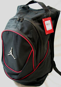 24e10038b0d3 NWT NIKE JORDAN RED Jumpman Backpack Black Logo Laptop Book Bag ...