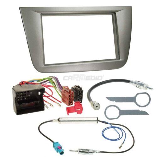 Seat Toledo 5p 04-09 2-din Kit de montage autoradio Façade Radio Anthracite