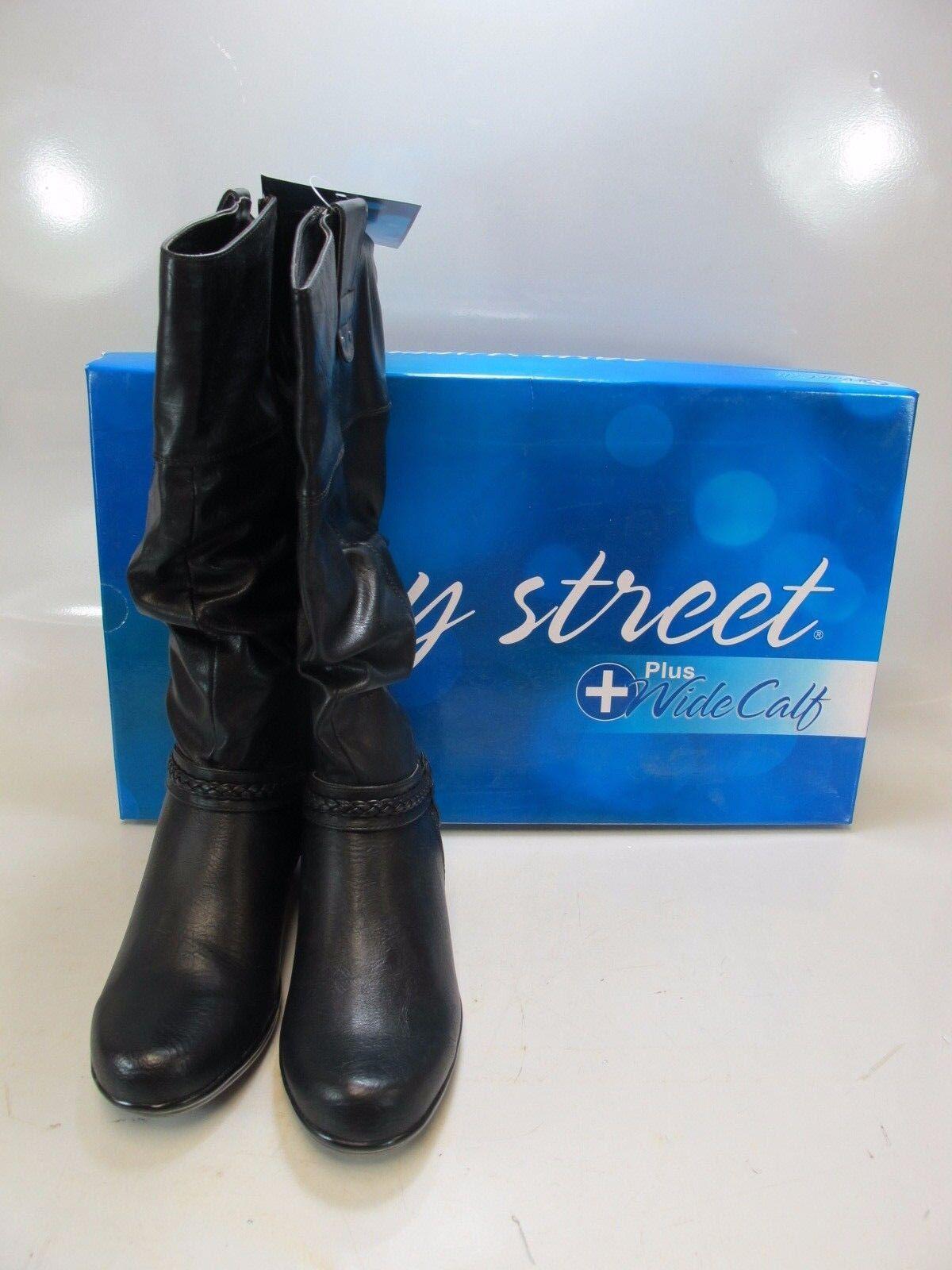 EASY EASY EASY STREET Womens JOYA PLUS Black Mid Calf Boots Wide Calf US 8.5 (40-9631) 464c74