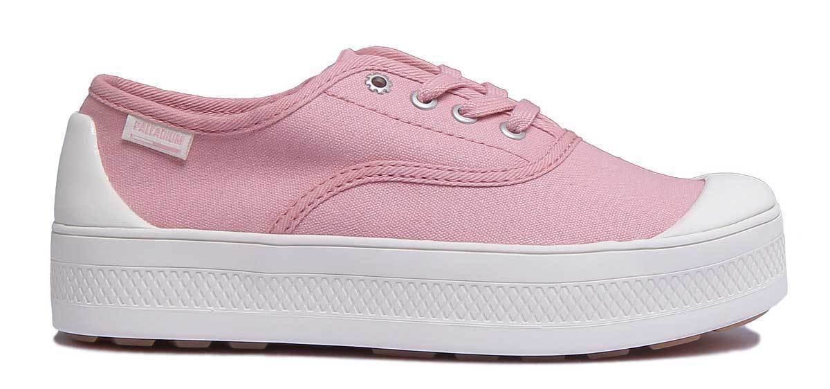 Palladium sous faible femme or or or rose basket en toile Taille UK 3 - 8 503fe3