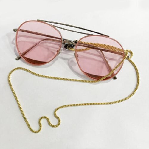2PC Eyeglass Reading Glasses Spectacles Cord Holder Necklace Chain Metal 56-60cm