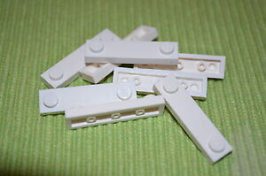 Detail Parts ~ (8) 1x4 White Plate Bricks w/ Tile (smooth) Center ~ NEW LEGO