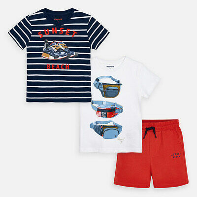 Aged 2-8 Yrs Mayoral Boys Twin T-Shirt /& Shorts in Hibiscus 3624