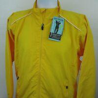 Page & Tuttle Free Swing Golf Wind Jacket Bright Yellow Full Zip Size Medium