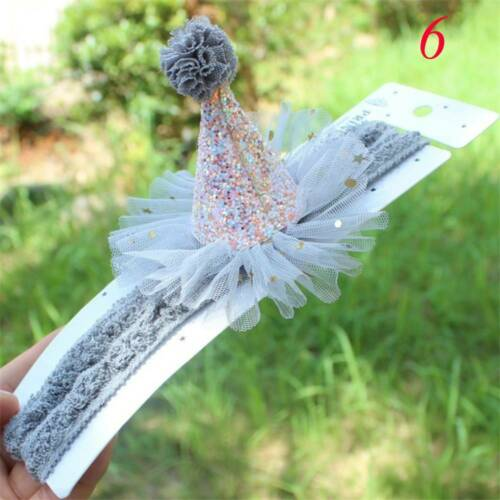 Elastic Headband Baby Girls Princess Lace Flower Birthday Hair Band Child Kids