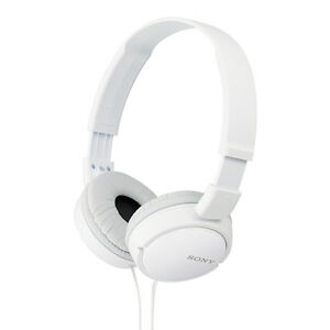 Sony MDR-ZX110 On Ear Wired Headphones Without Mic White + 6 Months Warranty