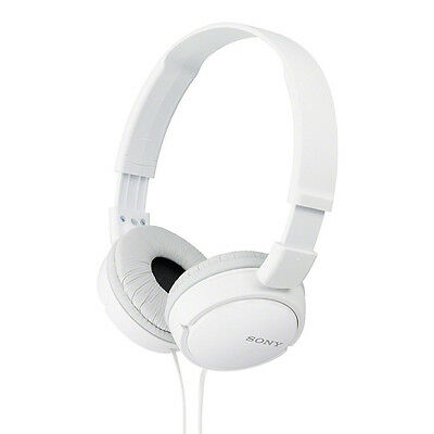 Sony MDR-ZX110A On Ear Wired Headphones Without Mic - White + 1 Year Warranty