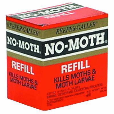 No-Moth Closet Hanger /& Odor Remover Refill 1021 6pk