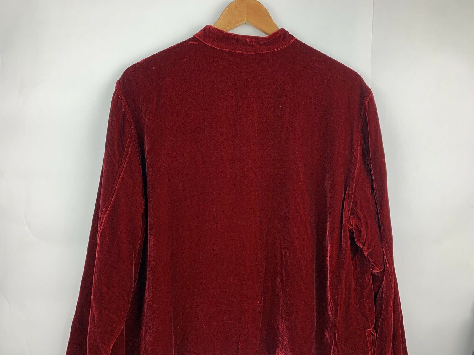 Chicos Womens Button Jacket Red Velvet Velour Ope… - image 8