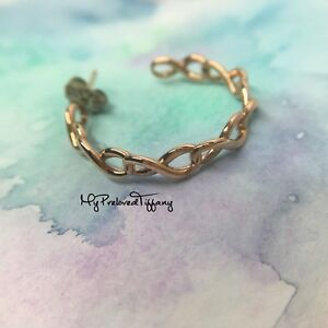 ae2842e2a Image is loading Excellent-Tiffany-amp-Co-Rubedo-Infinity-Hoop-Earrings-