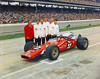 MARIO ANDRETTI 1969 INDIANAPOLIS 500 INDY WINNER with CREW 8x10 PHOTO