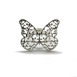 Anillo-de-plata-esterlina-Filigrana-Mariposa-solida-ley-925-hecho-a-mano