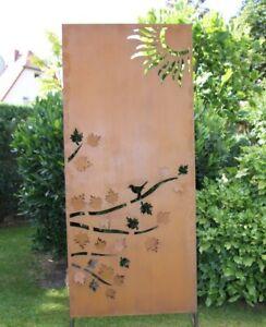 Edelrost Sichtschutz Ahorn 3d 80x190cm Sichtschutzwand Gartendeko Trennwand Ebay