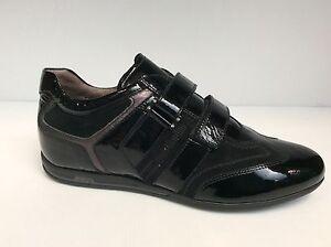 Nero Giardini A207612 D Sneakers Scarpe Donna velcro Made in Italy col nero