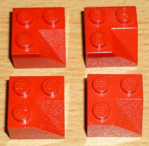 LEGO 4 pietre 2 x 2 con linea di incisione in rosso