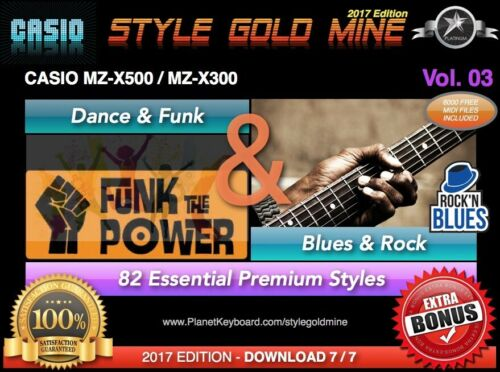 82 NEU SUPER STYLES Dance Funk /& Blues Rock Casio MZX-500 MZX-300 NEU EDITION