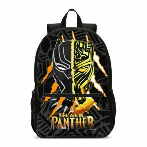 Kids Marvel Superhero Black Panther School Backpack Shoulder Bag Custom Lot