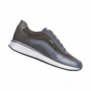 Sneakers | Geox Dennie A Sneakers Da Uomo In Suede Grigio