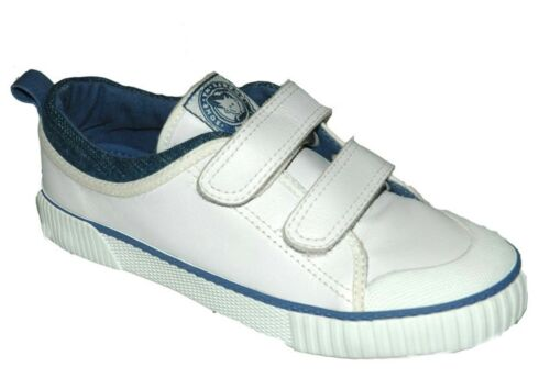 Buckle My Shoe London Youth UK 1 /& 2 White Leather Touch Fastening New Trainers