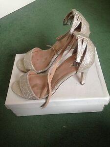 alla 6 a Donna caviglia Next spillo Scarpe tacco Fit Wife Glitter con scintillanti Size Cinturini qZErOwZ