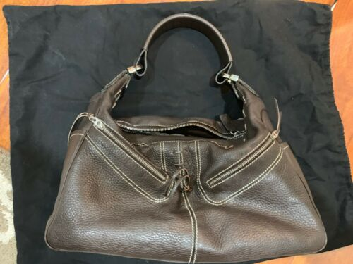 Tods Brown Leather Hangbag Authentic