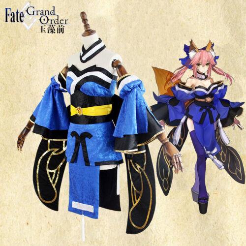 Fate//Grand Order Tamamo no Mae Cosplay Costume Unisex Kimono Anime Full Suit Hot