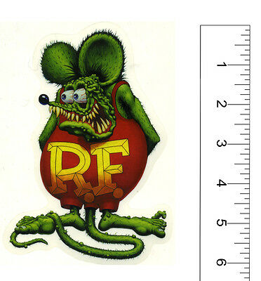 "Rat Fink sticker 6"" Ed big daddy Roth hot rod drag race Kustom Kulture"