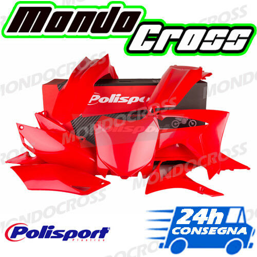 Kit plastiche cross mx POLISPORT Rosso HONDA CRF 450 R 2014 (14)!