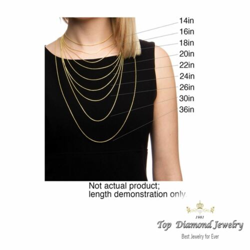 """Guaranteed 14K Yellow Gold Box Chain Necklace 0.6mm 16/""""-24/"""""""