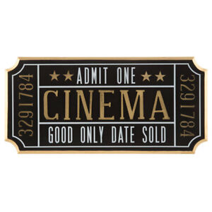 Image Is Loading Cinema Ticket Wall Sign Theater Media Plaque Room