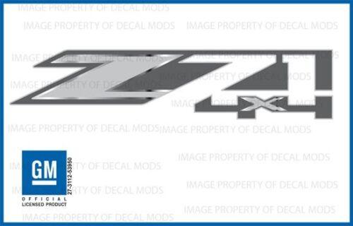 FMT metallic strip 2016 Chevy Silverado Z71 4x4 Decals bed stickers set of 2