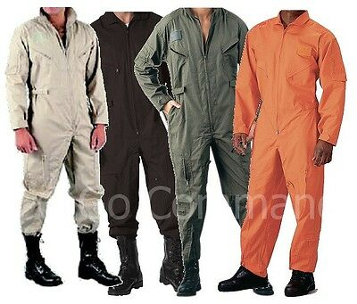 Details about FLIGHTSUIT PILOT US NAVY AIR FORCE STYLE COVERALLS ALL COLORS SIZE XS TO 3XL