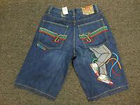 Coogi Men's Blue Denim Jean Shorts With Tags Sneaker Design $135 Retail