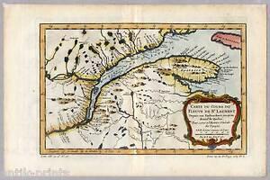 Kanada-Canada-Saint-Lawrence-River-Karte-Map-Bellin-1757-Sankt-Lorenz-Strom