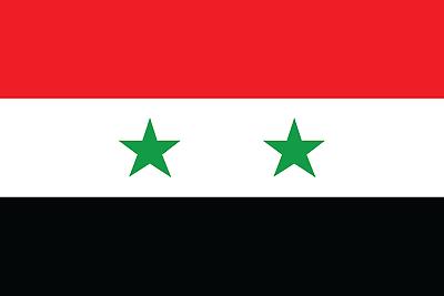 Hilfreich Syria Flag Bügelbild,markenqualität Waschbar Bis 95°c Attraktiv Und Langlebig