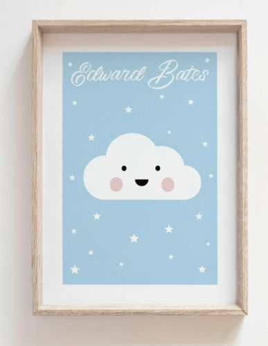 Stars Cloud Moon Prints Kids Bedroom Picture Nursery Baby Wall **OFFER 3 for 2