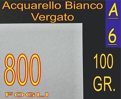 800 Ff A6 Carta 100gr Grifo Vergata Rilievo Bianca X Stampanti Laser Inkjet
