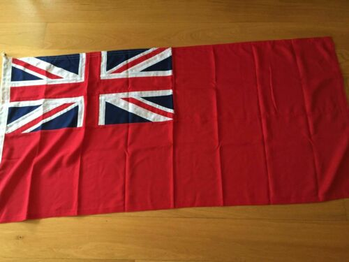 Sewn Red Ensign Civilian Flag Rope and Toggle Made on MOD approved woven cloth