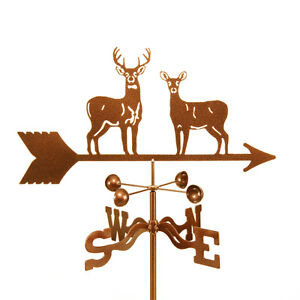 Standing-Deer-Weathervane-Whitetail-Mule-Buck-and-Doe-with-Choice-of-Mount