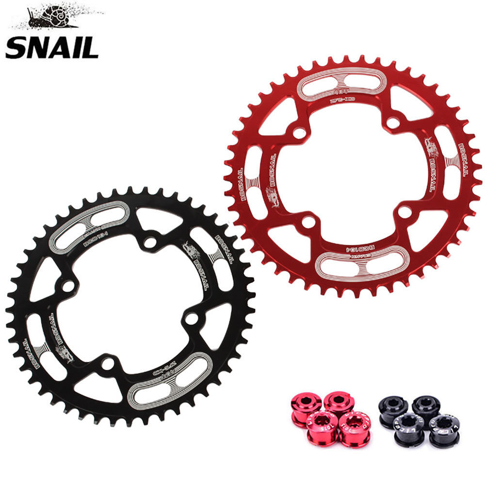 SNAIL 104bcd MTB Bike Round Narrow Wide 44-52T Chainring Crankset Tooth Bolts