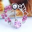 Women-Pink-Shine-Crystal-Flower-Belly-Ring-Navel-Studs-Body-Piercing-Jewelry thumbnail 4