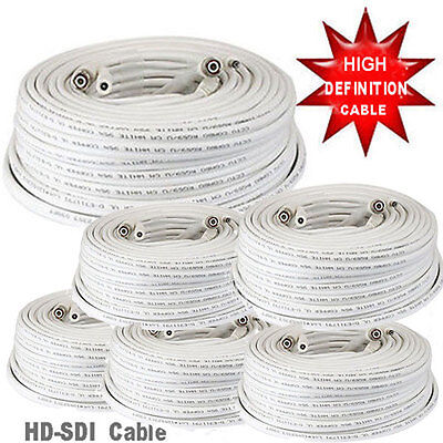 SV 6X 100ft Premade RG59 Combo Siamese CCTV Coaxial BNC Cable for HD Camera