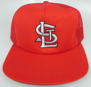 ST-LOUIS-CARDINALS-RED-HOME-VINTAGE-SNAPBACK-RETRO-MESH-TRUCKER-CAP-HAT-NWT-FS