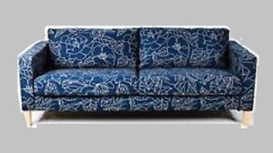 Peachy Details About Ikea Karlstad Sofabed Sleeper Sofa New Bladaker Blue Botanical Navy Beige Cover Cjindustries Chair Design For Home Cjindustriesco