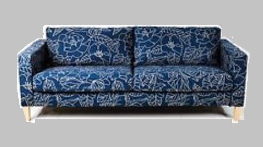 Outstanding Ikea Karlstad Sofabed Sleeper Sofa New Bladaker Blue Botanical Navy Beige Cover Gmtry Best Dining Table And Chair Ideas Images Gmtryco