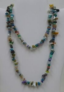 COLORFUL-NATURAL-QUARTZ-CRYSTAL-CHIP-NECKLACE-36-034-DISCO-Variety-Stone-Stunning