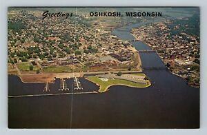 POSTCARD USA THE PIONEER INN MARINA LAKE WINNEBAGO OSHKOSH