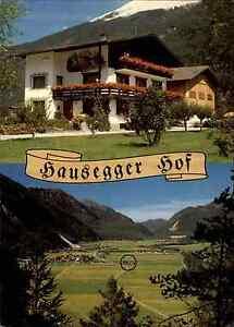 Laengenfeld-Osterreich-Tirol-Otztal-Hausegger-Hof-Hotel-Pension-Postkarte-1970